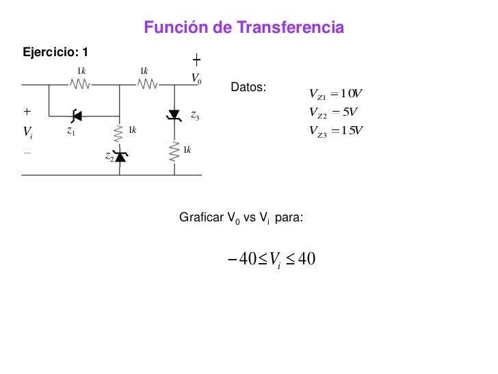 Electronica funcion de transferencia