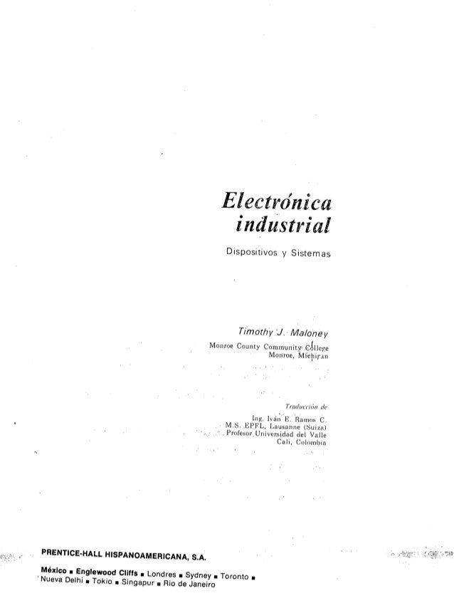 Electronica industrial   timothy j. maloney