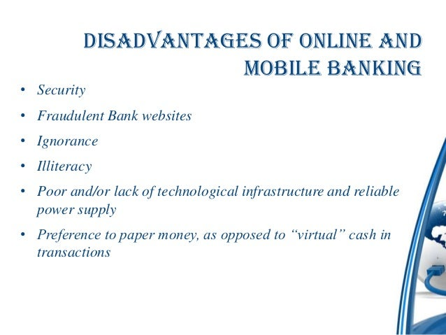 e banking advantages and disadvantages pdf