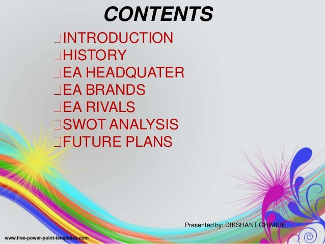 electronic arts swot analysis Electronic arts inc - strategy, swot and corporate finance report, is a source of comprehensive company data and information the report covers the company's structure, operation, swot analysis, product and service offerings and corporate actions, providing a 360 view of the company.