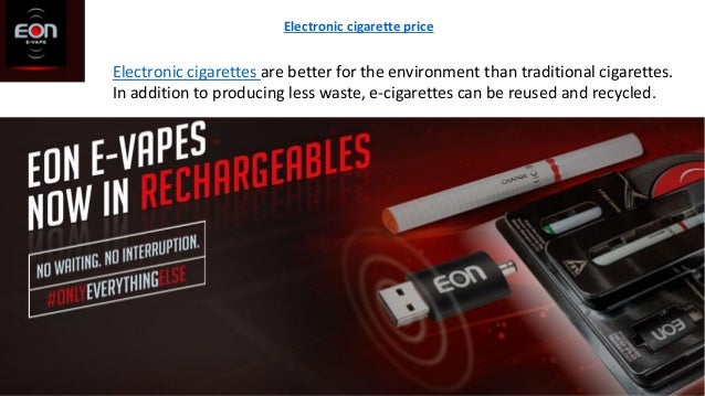 Electronic cigarettes are better for the environment than traditional cigarettes. In addition to producing less waste, e-c...