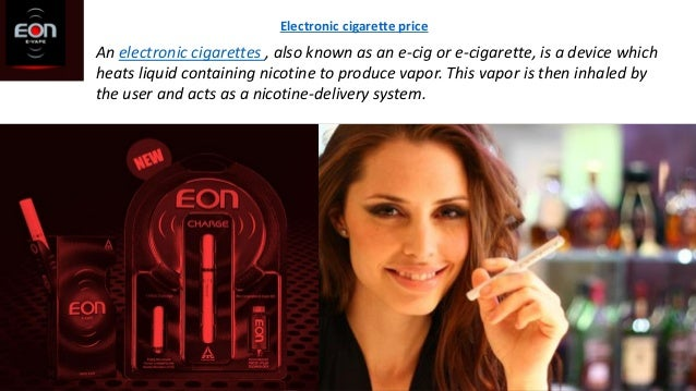 An electronic cigarettes , also known as an e-cig or e-cigarette, is a device which heats liquid containing nicotine to pr...