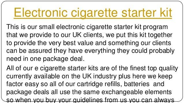 Electronic cigarette starter kit Slide 2