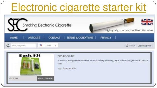 Electronic cigarette starter kit Slide 3