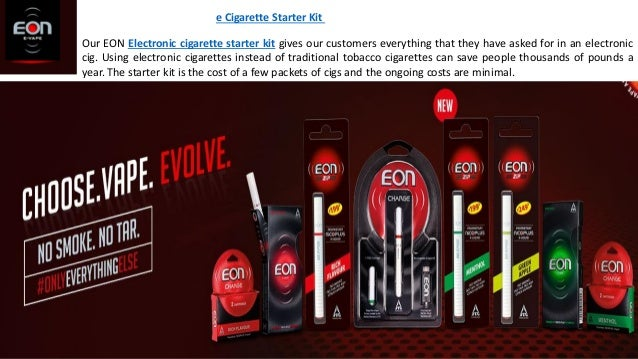 e Cigarette Starter Kit Our EON Electronic cigarette starter kit gives our customers everything that they have asked for i...