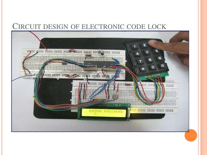 electronic code lock deviceelectronic code lock device; 2 circuit design