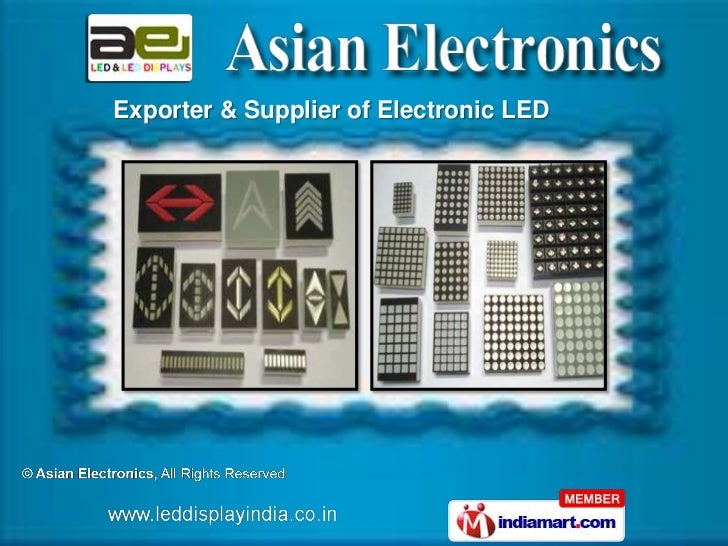 Exporter & Supplier of Electronic LED