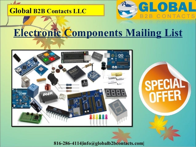 Electronic components mailing list