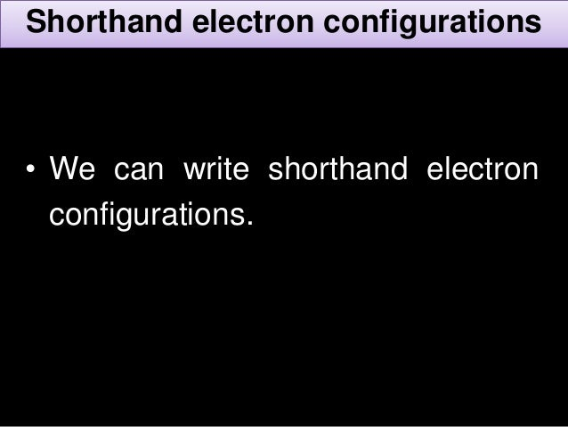 Electronic configuration final