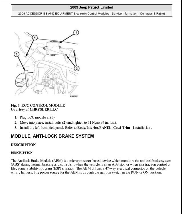 2009 jeep patriot abs wiring diagram 36 wiring diagram images Jeep JK Radio Wiring Diagram manual reparacion jeep pass patriot limited 20072009electronic control module 11 638 cb 1438198085 manual
