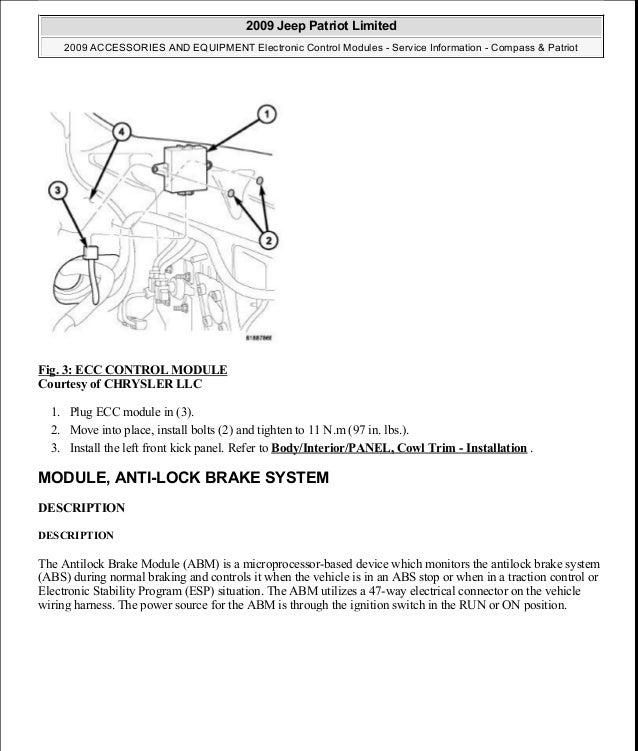 2009 Jeep Patriot Wiring Diagram Abs. . Wiring Diagram Abs Wiring Diagrams Chrysler on