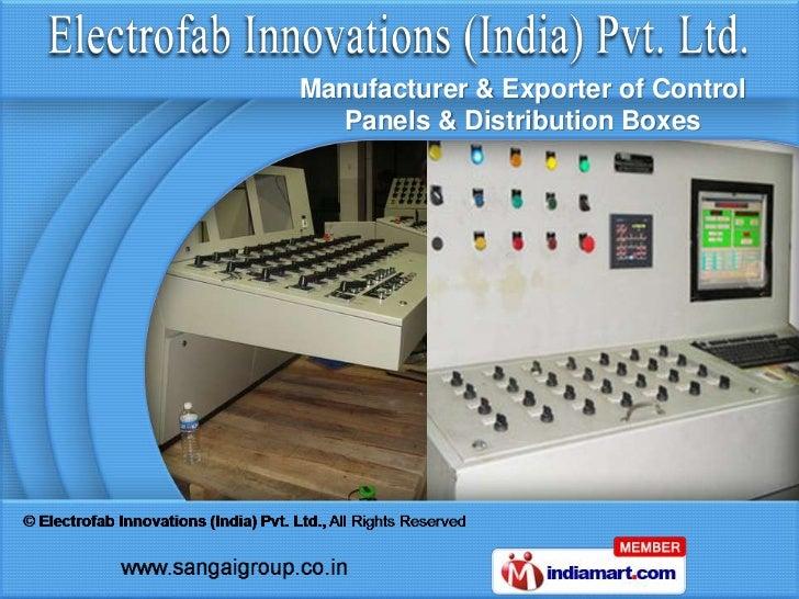 Manufacturer & Exporter of Control   Panels & Distribution Boxes