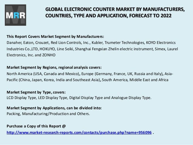 Global Electronic Counter Market Competition Trend, Size