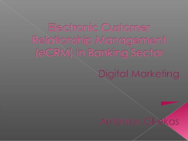 e crm in banking sector Crm in banks – indian scenario one industry best suited for the implementation of crm is the indian banking and financial service, which has the highest growth potential and accounts for 22.