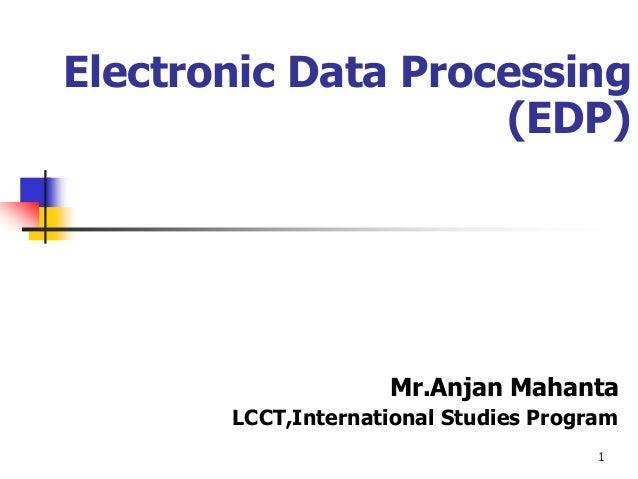 Electronic data processing