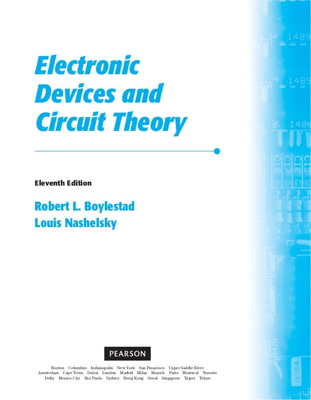 Electronic devices and circuit theory 10th edition boylestad louis.
