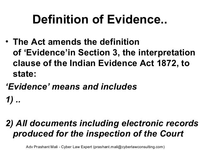 Electronic Evidence Digital Evidence In India