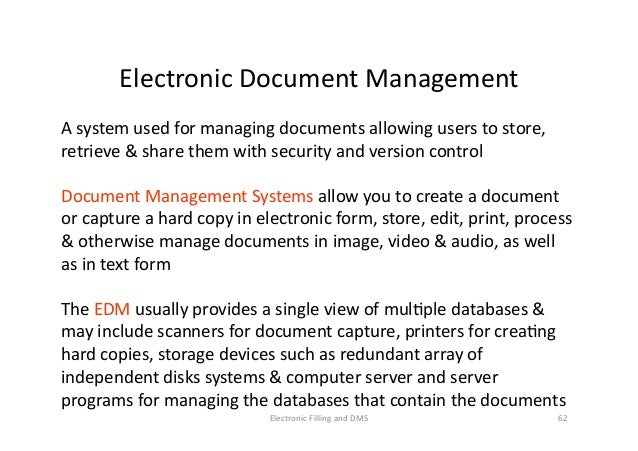 electronic document management system thesis Electronic library management system (elms) - alikira richard - project report - library science, information- / documentation science - publish your bachelor's or master's thesis.