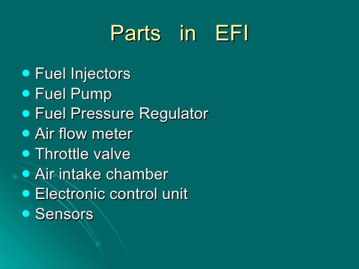 Electronic Fuel Injector