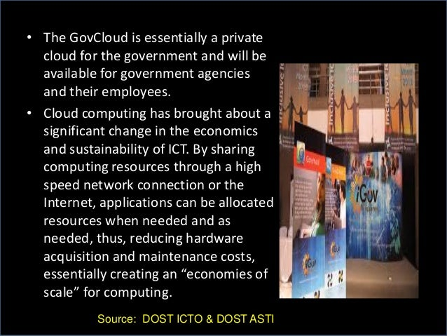 • The GovCloud is essentially a private cloud for the government and will be available for government agencies and their e...