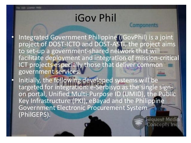 iGov Phil • Integrated Government Philippine (iGovPhil) is a joint project of DOST-ICTO and DOST-ASTI, the project aims to...