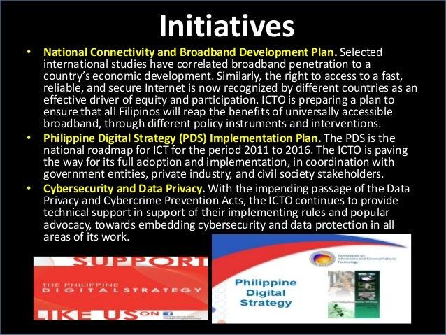 Initiatives • National Connectivity and Broadband Development Plan. Selected international studies have correlated broadba...