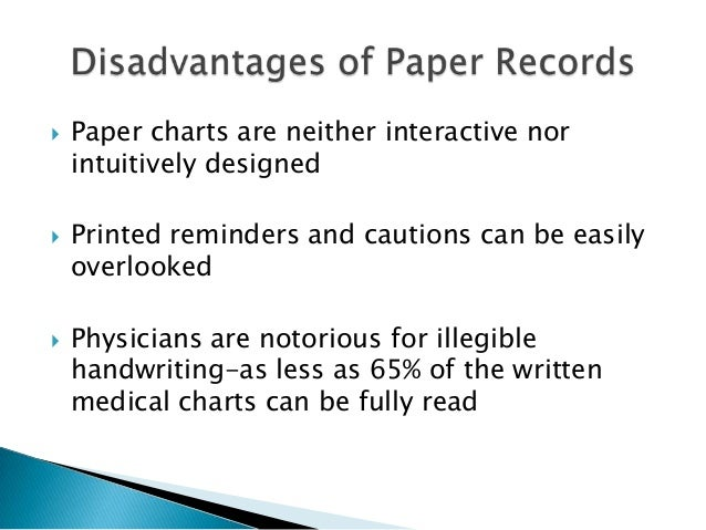 computerized medical records advantages and disadvantages