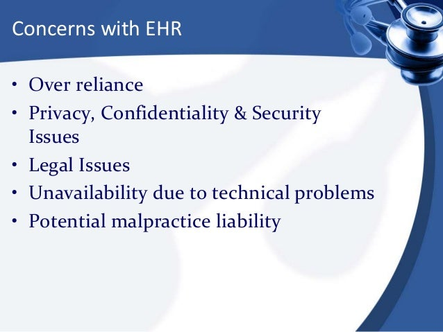 security challenges for electronic health record systems Electronic health records (ehrs) is the product of this integration and forms an integral part of the automated healthcare system accessing of ehr by each stakeholder complements the issues of data disclosure, confidentiality, authenticity and privacy that are likely to occur due to many reasons.