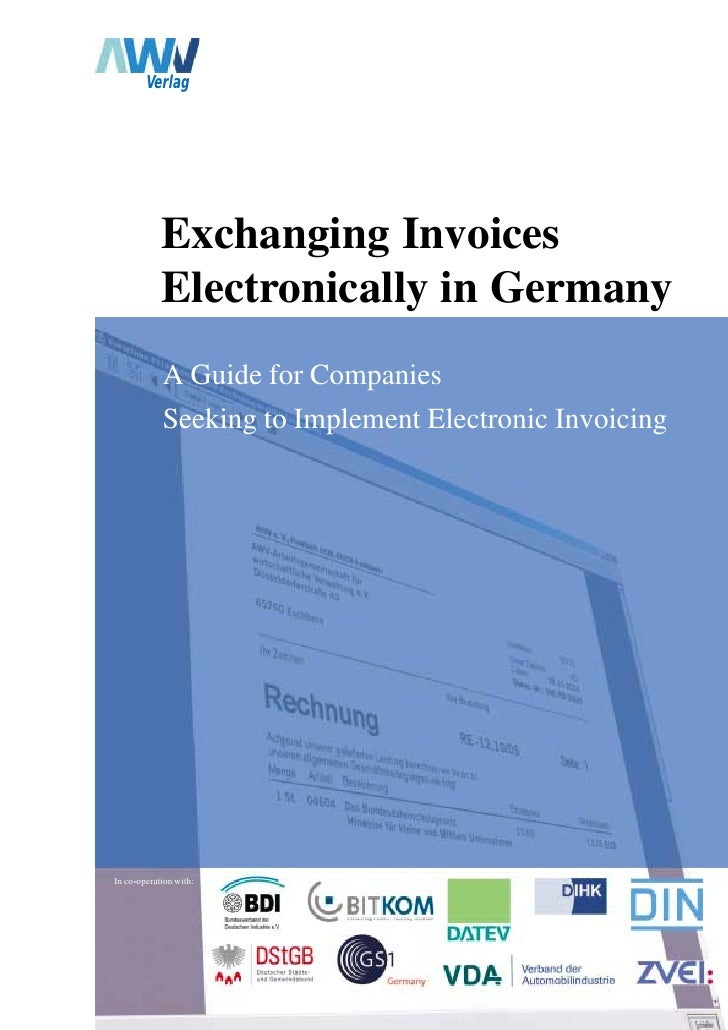 Verlag                 Exchanging Invoices             Electronically in Germany             A Guide for Companies        ...