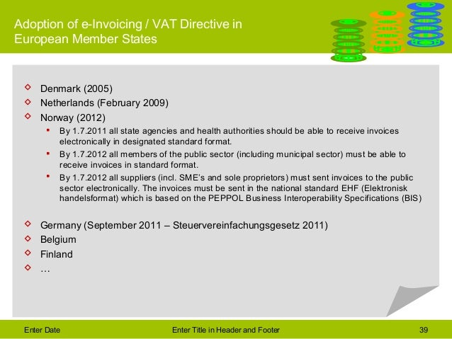 A Glimp Into The Future Of Electronic Invoicing - Ehf format invoice for service business