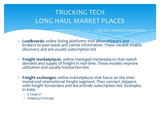 ELECTRONIC LOGISTICS MARKETPLACES (ELM)