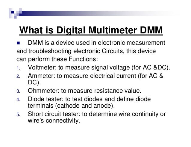 Electronic Measurement Beginners Guide on The 5 Parts Of Ohmmeter