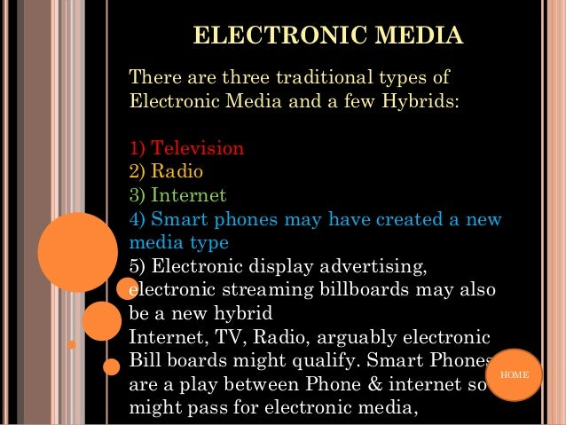 examples of electronic media