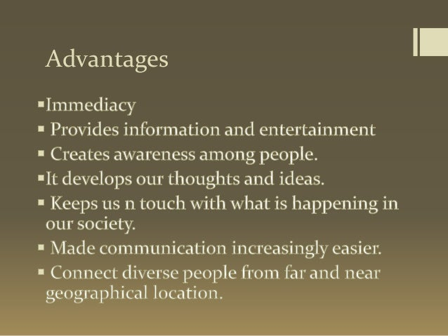 role of electronic media of communication Advantages and disadvantages of electronic communication communication using electronic media 55 responses to advantages and disadvantages of electronic.