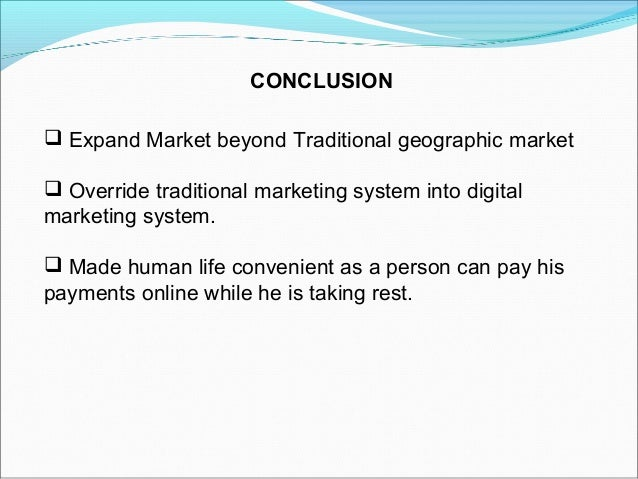 Electronic payments ystem