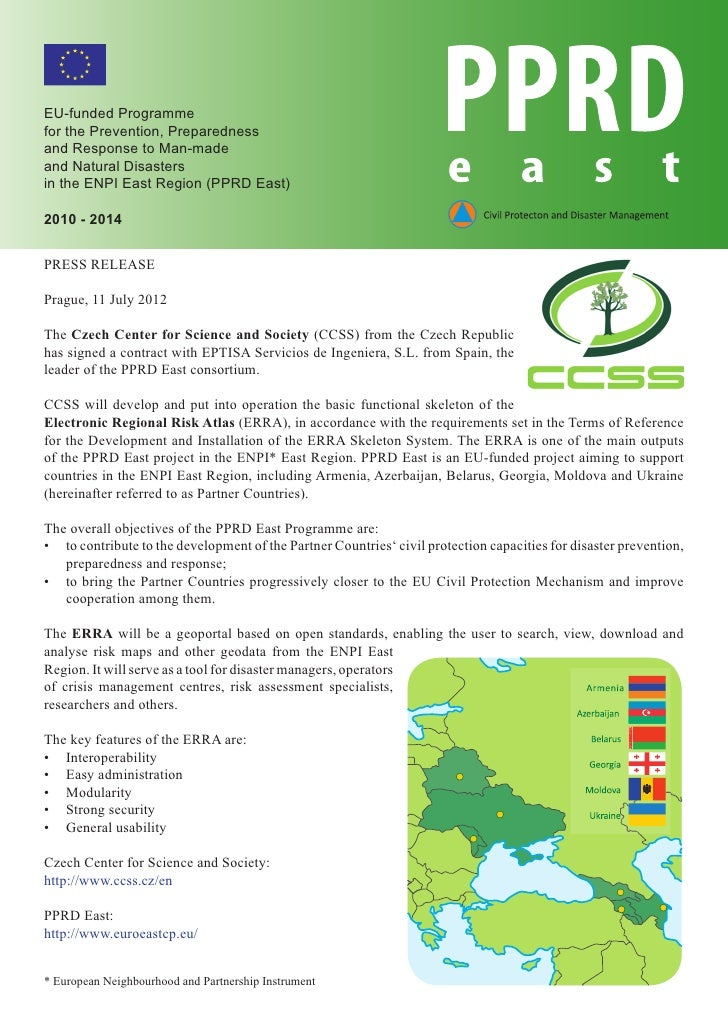 EU-funded Programmefor the Prevention, Preparednessand Response to Man-madeand Natural Disastersin the ENPI East Region (P...