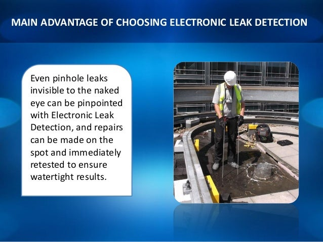 Electronic Roof Leak Detection Detect And Locate Flat