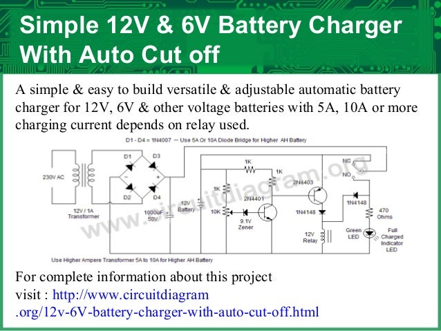 Electronics projects circuit diagrams free httpcircuitdiagram 12v 6v battery charger with auto cut offml 7 publicscrutiny Images