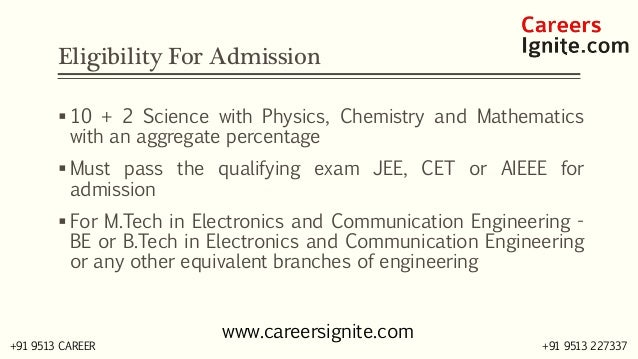 Electronics and Communication Engineering Courses, Colleges, Eligibility Slide 3