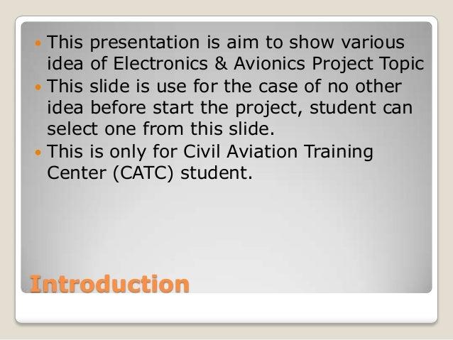 Electronics & Avionics project Slide 2