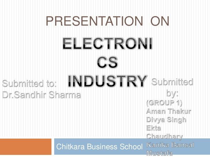 PRESENTATION ON Chitkara Business School