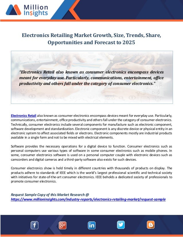 Electronics Retailing Market Growth Size Trends Share Opportuniti