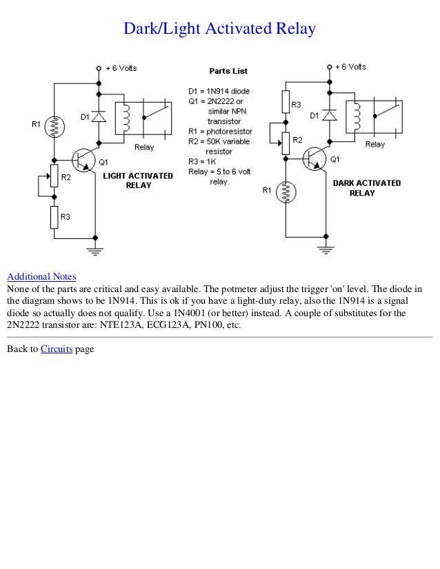 Electronics schematic circuits for the hobbyist on