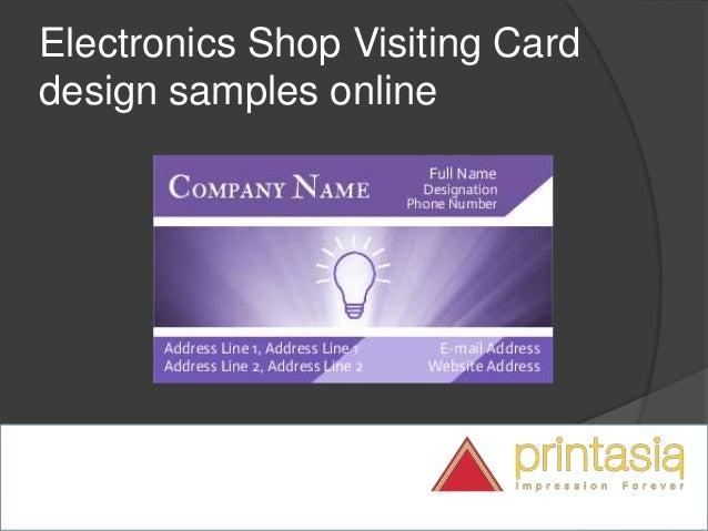 Electronic shop visiting cards | Visiting cards online design for ele…