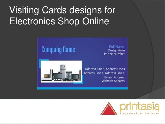 Electronic Shop Visiting Cards | Visiting Cards Online Design For Ele…