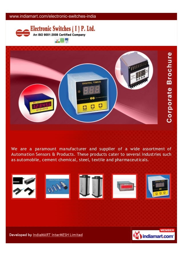 We are a paramount manufacturer and supplier of a wide assortment ofAutomation Sensors & Products. These products cater to...