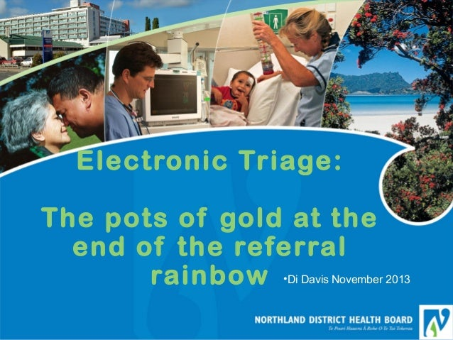 Electronic Triage: The pots of gold at the end of the referral rainbow •Di Davis November 2013