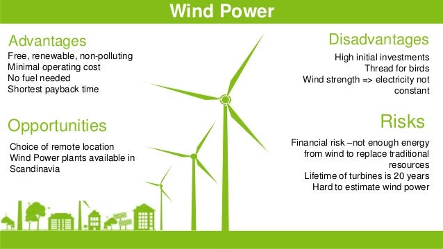 the advantages and disadvantages of using wind power