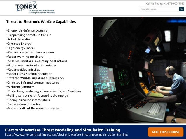 Electronic Warfare Threat Modeling and Simulation