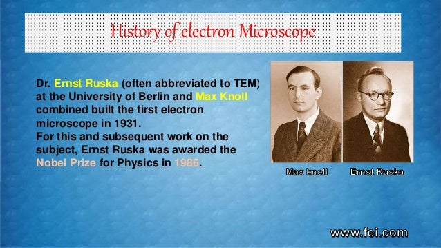 Electron Microscope Sem And Tem